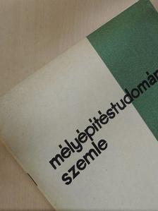 Bánréti László - Mélyépítéstudományi Szemle 1971. február [antikvár]