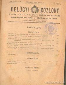Dr. Németh Károly - Belügyi közlöny 1916. XXI. évfolyam 29-64. szám [antikvár]