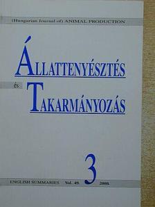 Dohy János - Állattenyésztés és Takarmányozás 2000/3. [antikvár]