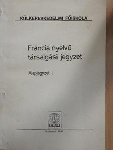 Berényi Pálné - Francia nyelvű társalgási jegyzet [antikvár]