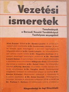 Bognár Elek - Vezetési ismeretek [antikvár]