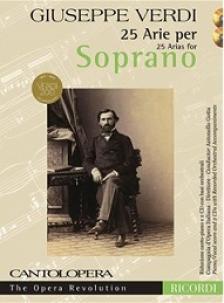 Verdi - CANTOLOPERA 25 ARIE PER SOPRANO PIANO/VOCAL  INCLUDES 2 CD