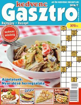 CSOSCH KIADÓ - Kedvenc Gasztro rejtvénylap 2016/7