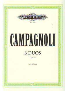 CAMPAGNOLI - 6 DUOS OP.14 FÜR 2 VIOLINEN (FRIEDRICH HERMANN)