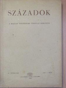 Agárdi Ferenc - Századok 1963/3. [antikvár]