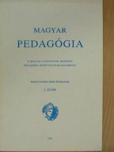 Berghammer Rita - Magyar Pedagógia 1991/2. [antikvár]