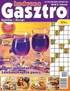 CSOSCH KIADÓ - Kedvenc Gasztro rejtvénylap 2016/2