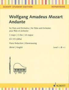 MOZART, W,A, - ANDANTE FOR FLUTE AN ORCHESTRA C MAJOR KV 315 (285e) KLAVIERAUSZUG (BIRTEL/KNIGHT)