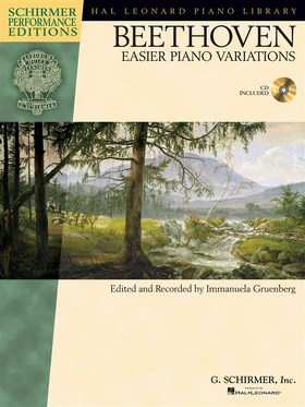 BEETHOVEN - EASIER PIANO VARIATIONS (ED. AND REC. BY I. GRUENBERG) + CD
