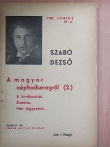 Szabó Dezső - A magyar néphadseregről II. [antikvár]