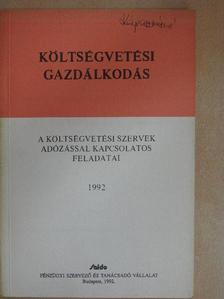 Ácsné Molnár Judit - A költségvetési szervek adózással kapcsolatos feladatai [antikvár]