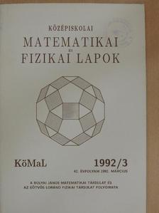 Benczúr András - Középiskolai matematikai és fizikai lapok 1992. március [antikvár]