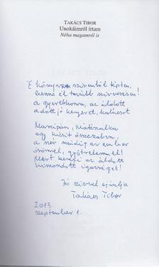 TAKÁCS TIBOR - Unokáimról írtam (dedikált) [antikvár]