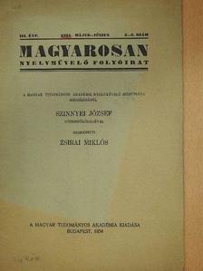 Csűry Bálint - Magyarosan 1934. május-június [antikvár]