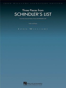 JOHN WILLIAMS - SCHINDLER'S LIST. THREE PIECES FROM... VIOLIN AND PIANO