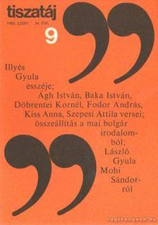 Vörös László - Tiszatáj 1980. szeptember 34. évf. 9. [antikvár]