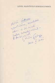 Gömöri György - Levél hanyatló birodalomból (dedikált) [antikvár]