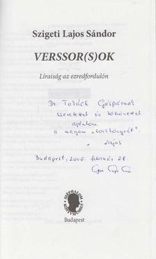 Szigeti Lajos Sándor - Verssor(s)ok (dedikált) [antikvár]