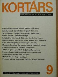 Balla Zsófia - Kortárs 1980. szeptember [antikvár]