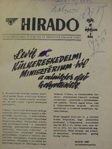 Baczoni Jenő - ÉBGV Hiradó 1971. [antikvár]