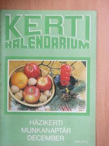 Biza Klára - Kerti Kalendárium 1989. december [antikvár]