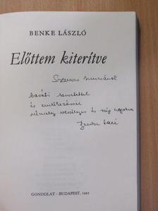 Benke László - Előttem kiterítve (dedikált példány) [antikvár]