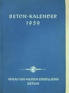 Beton-Kalender 1959. I. [antikvár]