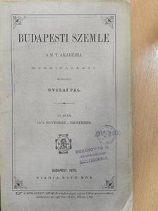 Greguss Ágost - Budapesti Szemle 12. kötet 23-24. szám [antikvár]