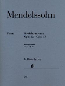 MENDELSSOHN - STREICHQUARTETTE OP.12, 13 URTEXT (HERTTRICH), STIMMEN