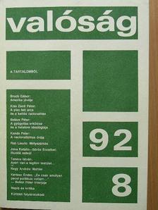Balázs Péter - Valóság 1992. augusztus [antikvár]