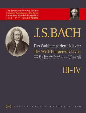 J. S. Bach - DAS WOHLTEMPERIERTE KLAVIER III-IV. (BARTÓK)