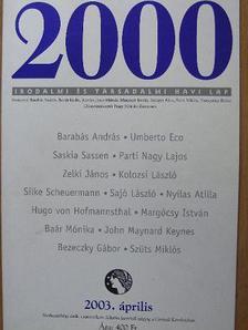 Baár Mónika - 2000 2003. április [antikvár]