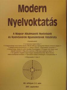 Barta Péter - Modern Nyelvoktatás 2007/2-3. [antikvár]