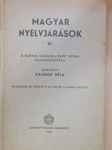 Benkő Loránd - Magyar nyelvjárások VI. [antikvár]