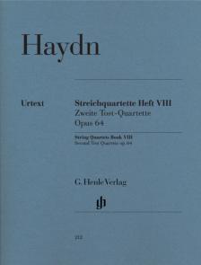 HAYDN J. - STREICHQUARTETTE HEFT VIII OP.64 URTEXT (FEDER / SASLAV / KIRKENDALE), STIMMEN