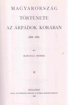 Marczali Henrik - A magyar nemzet története III. [antikvár]