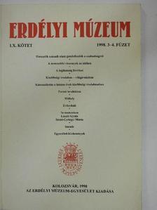 Cserey Zoltán - Erdélyi Múzeum 1998/3-4. [antikvár]