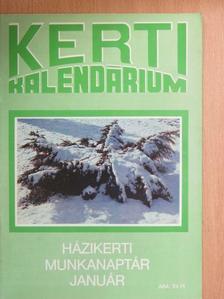 Biza Klára - Kerti Kalendárium 1990. január [antikvár]