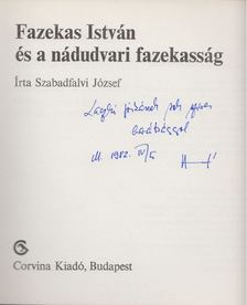 Szabadfalvi József - Fazekas István és a nádudvari fazekasság (dedikált) [antikvár]