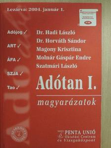 Dr. Hadi László - Adótan I. [antikvár]