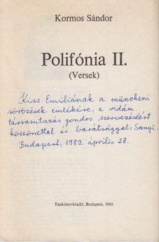 Kormos Sándor - Polyfónia II (dedikált) [antikvár]