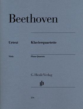 BEETHOVEN - KLAVIERQUARTETTE URTEXT (KROSS/THEOPOLD)