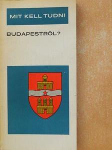 Esti Béla - Mit kell tudni Budapestről? [antikvár]