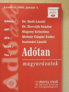 Dr. Hadi László - Adótan magyarázatok [antikvár]