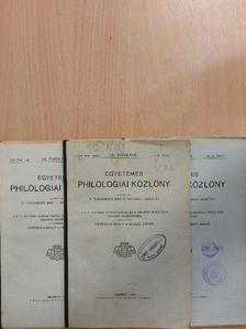 A. A. - Egyetemes Philologiai Közlöny 1929. január-december [antikvár]