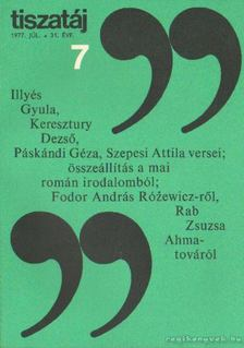 Vörös László - Tiszatáj 1977. július 31. évf. 7. [antikvár]