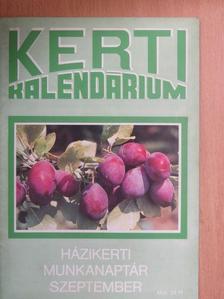 Biza Klára - Kerti Kalendárium 1989. szeptember [antikvár]