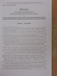 Bányász Réka - Studia Universitatis Babes-Bolyai, Theologia Reformata Transylvaniensis 2002/1. [antikvár]