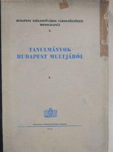Asztalos Miklós - Tanulmányok Budapest multjából V. [antikvár]
