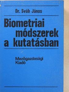 Dr. Sváb János - Biometriai módszerek a kutatásban [antikvár]